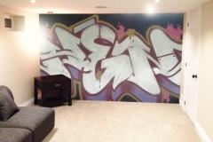 basement feature wall